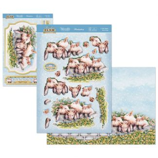 Meadow Farm Deco-Large - 4 Little Piggies