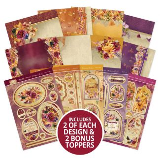 Forever Florals - Autumn Days Luxury Topper Collection with 2 x Bonus Topper Sheets