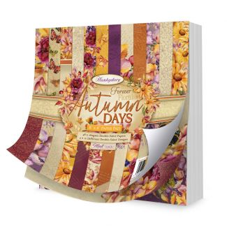 """Forever Florals - Autumn Days 8"""" x 8"""" Paper Pad"""