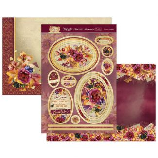 Crimson Bouquets Luxury Topper Set