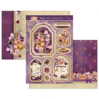 Purple Posies Luxury Topper Set