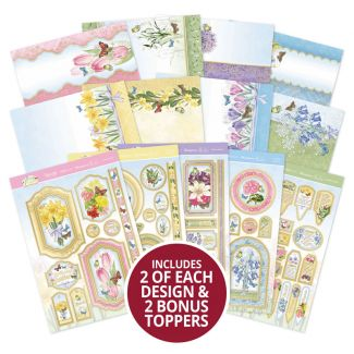 Forever Florals - Spring Melody Luxury Topper Collection with 2 x Bonus Toppers