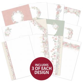 Forever Florals - Festive Rose Luxury Card Inserts