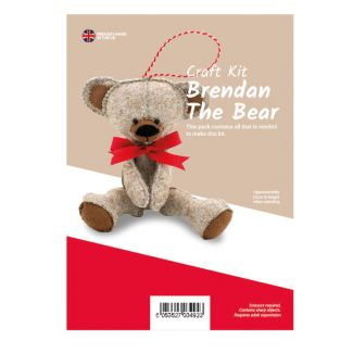 Brendan the Bear Felt Kit (approx 22cm tall)