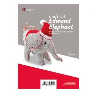 Edmond The Elephant Felt Kit (approx 13cm tall)