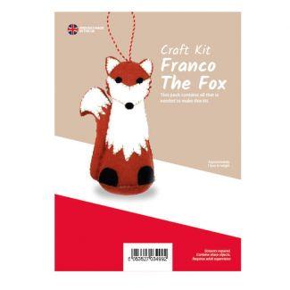 Franco The Fox Felt Kit (approx 15cm tall)