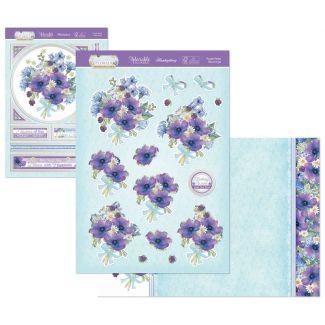 Flourishing Florals Deco-Large - Purple Petals