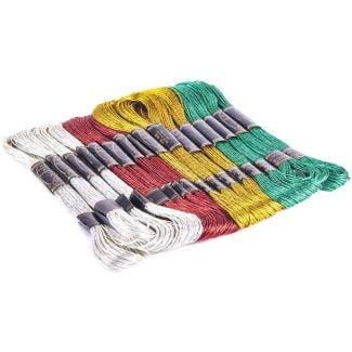 Trimits Thread Pack - Christmas Metallic Floss Pack x 16 skeins