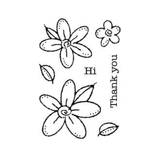 """Woodware Clear Stamp - Daisies (3.8"""" x 2.6"""")"""