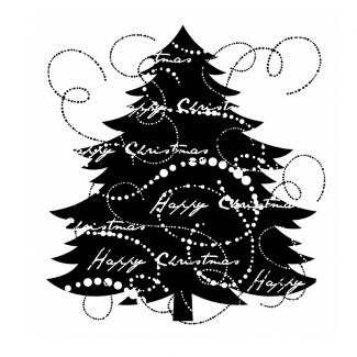 Woodware Clear Stamp -  Fir Tree