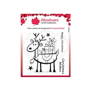 Woodware Festive Clear Stamp - Rudolph Pressies