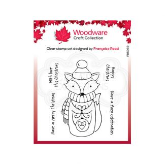 """Woodware Festive Clear Stamp - Foxy Christmas (4"""" x 4"""")"""
