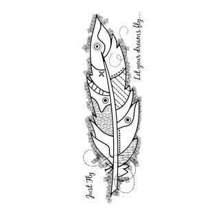 Woodware Clear Stamp - Large Feather