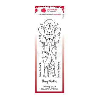 Woodware Festive Clear Stamp - Patch Angel