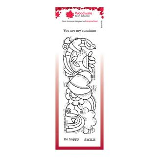 Woodware Clear Stamp - Heart Border
