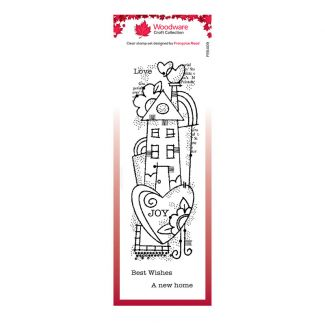 Woodware Clear Stamp - Rainbow House