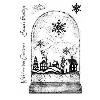 Woodware Clear Stamp -  Snowglobe
