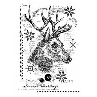 Woodware Clear Stamp - Vintage Deer