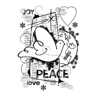 Woodware Clear Stamp -  World Peace