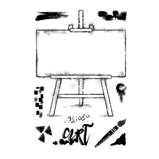 Woodware Clear Stamp - Art Easel