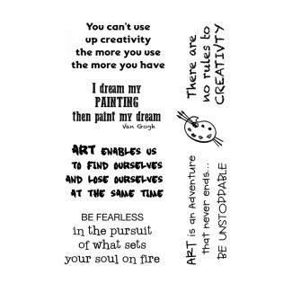 Woodware Clear Stamp - Creative Quotes