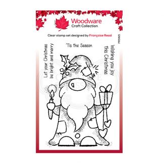 Woodware Festive Clear Stamp - Seasonal Gnome