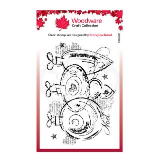Woodware Festive Clear Stamp - Three Baubles