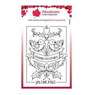 Woodware Festive Clear Stamp - Two Turtle Doves