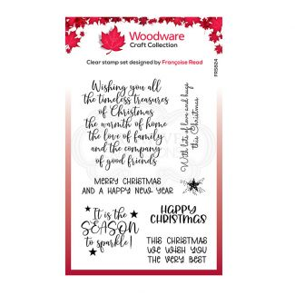 Woodware Festive Clear Stamp - Special Christmas Words