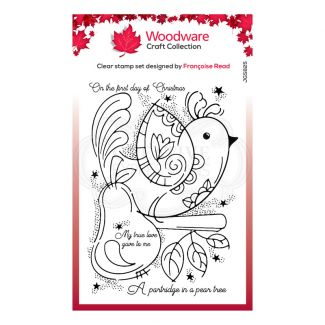 """Woodware Festive Clear Stamp - Partridge (6"""" x 4"""")"""