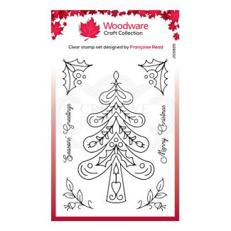 """Woodware Festive Clear Stamp - Nordic Tree (6"""" x 4"""")"""