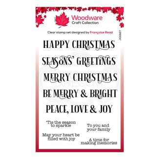 """Woodware Festive Clear Stamp - Christmas Sparkle (6"""" x 4"""")"""