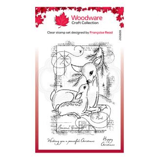 """Woodware Festive Clear Stamp - Baby Deer (6"""" x 4"""")"""