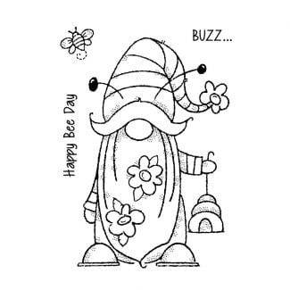 """Woodware Clear Stamp - Bee Gnome (6"""" x 4"""")"""