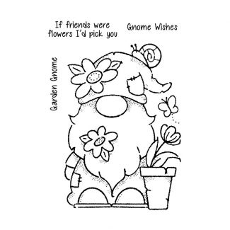 """Woodware Clear Stamp - Garden Gnome (6"""" x 4"""")"""