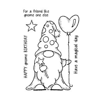 """Woodware Clear Stamp - Wizard Gnome (6"""" x 4"""")"""
