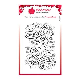 Woodware Clear Stamp - Butterfly Confetti