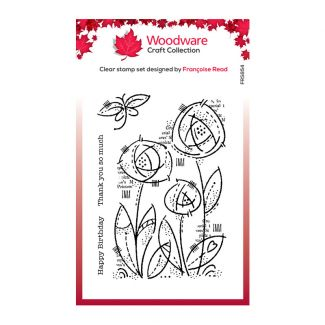 Woodware Clear Stamp - Flower Blooms