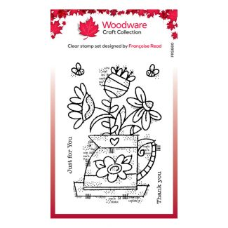 Woodware Clear Stamp - Flower Jug