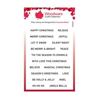 Woodware Festive Clear Stamp - Christmas Strips