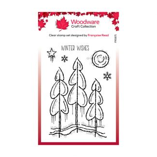 Woodware Festive Clear Stamp - Winter Trees