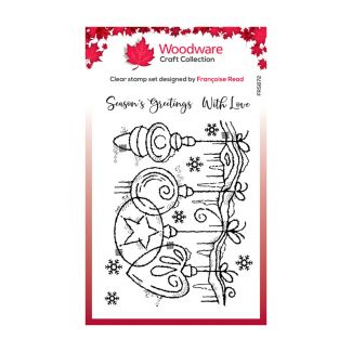 Woodware Festive Clear Stamp - Frosted Baubles