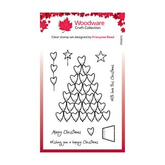 Woodware Festive Clear Stamp - Heart Tree
