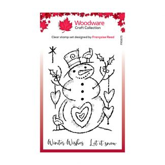 Woodware Festive Clear Stamp - Loving Snowman