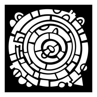 Woodware Stencil - Wheel