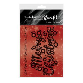 For the Love of Stamps - A Merry Christmas A7 Stamp Set