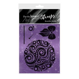 For the Love of Stamps - Beautiful Bauble A7 Stamp Set