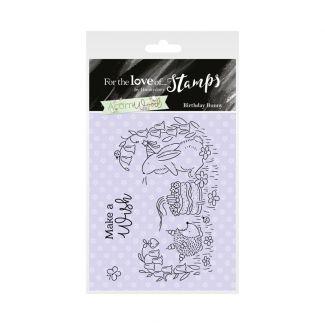 Acorn Wood Clear Stamp - Birthday Bunny