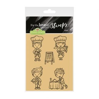 For the Love of Stamps - Happy Town - Chef