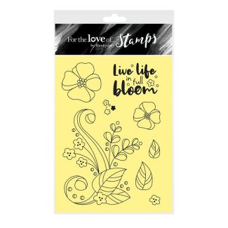 For the Love of Stamps - In Full Bloom A6 Stamp Set